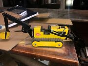 Vintage 1972 Tonka Toys Yellow T-6 Trencher / Loader / Tractor 41242