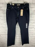 New Levi's Women's Plus Size Classic Bootcut Jeans 18w M Island Rinse Waterless