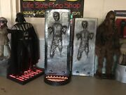 Life Size Star Wars Sideshow Han Solo In Carbonite 11 Full Size Prop Statue