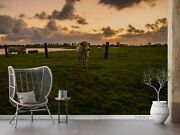 3d Cattle Farm Grass Landscape Self-adhesive Removeable Wallpaper Wall Mural 97