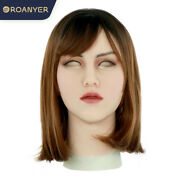 Female Hand Cover Silicone Mask Headgear For Makeup Cosplay Crossdress