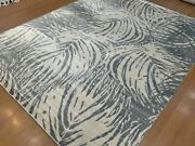 8and039x10and039 Rug | Modern Luxury Hand Knotted Bamboo Silk Beige-gray Color Area Rug