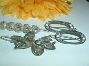 Collection Of 4 Victorian Clip Hair Barrettes In Gift Box