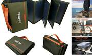 Portable Solar Charger 60w Foldable Solar Panel With 5v Usb And 18v 60-watt
