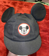 Vintage Disney Mickey Mouse Ears Hat Cap 1960's Club Mouseketeer Hat Made In Usa