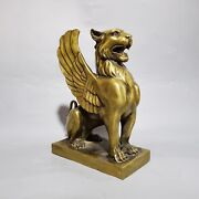 11.4 Collect Chinese Bronze Animal Exquisite Fly Tiger Statues