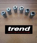 Trend Router Collet Set Of 6 Collets 6mm 8mm12mm 1/4 3/81/2