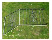 Pair Vintage Wrought Iron Handrail Outdoor Stairs Black Metal Exterior Porch