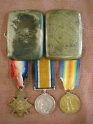 Ww1 Medals Group And Case To Massey 49th Edmonton Canadian Infantry Wounded Ypres