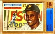 1956 Roberto Clemente Hof Topps 33 Bvg Authentic Altered Nm/mt Appearance
