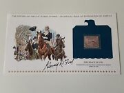 Gerald Ford Signed Autograph Philatelic Engraving Postage Stamp Psa Dna J2f1c