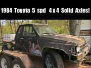 1984 4x4 Stock Toyota Parts Truck Complete Solid Axles T-case Trans 22r Engine