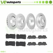 Brake Pads And Rotors Front Rear For Land Rover Range Rover Sport 4.2l Drilled