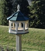 Large Gazebo Poly Bird Feeder Arched Type Amish Handcrafted Handmade
