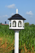 Large Gazebo Poly Bird Feeder Arched Type Amish Handcrafted 10qt Deluxe Tube