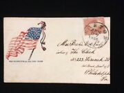 Md Easton 1861 Civil War Patr Cover 65 The Constitution And The Union Illus Flag