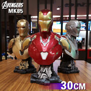 New Iron Man Mk85 Mark 85 Bust Model Resin Statue Half Chest Figure 30cm Collect