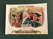 Our Union Inner Cigar Label, Uncle Sam, Spanish Am. War Sailor, Soldier