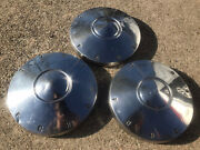 3 1960 1961 1962 Ford Fairlane Galaxie Dog Dish Center Caps Poverty 9-3/4