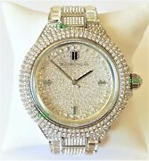 Watch Women Crystals Dial Silver Band Silver Case Mk5869 Genuine