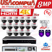 Hikvision Security System Kit Nvr 16ch Poe 4mp 3axis H265+ Hdd Optional