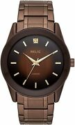 Relic By Fossil Menand039s Rylan Quartz Stainless Steel Diamond Accent Watch Brown