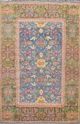 Vegetable Dye Sultanabad Hand-knotted Area Rug Geometric Oriental Carpet 10x12