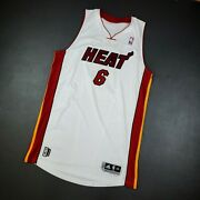 100 Authentic Lebron James 2010 2011 Heat Limited Edition Pro Cut Jersey
