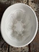 Antique Ironstone Pudding Mold Daisy Flower Design With Markings