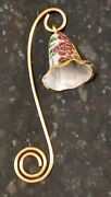 Pretty Vintage Enameled Cloisonne Brass Floral Candle Snuffer Bell Shaped