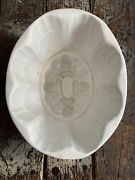 Large Antique Ironstone Pudding Mold Flowers And Ivy Design