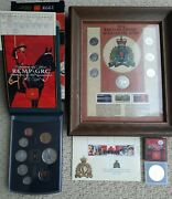 Lot Of Rcmp Coins / Stamps Collection Royal Canadian Mounted Police 1973-1998