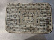 Dixie Queen Plug Cut Lunch Pail Tobacco Advertising Litho Tin Bucket Vintage