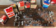 1957-59 Nos Delco Remy, Auto Lite Ignition Parts, Brushes, Ford Edsel Merc Mon