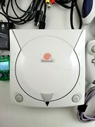 Sega Dreamcast Launch Edition W/cables, Controllers, And Games + Sonic Adventure