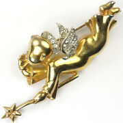 Mazer And039joseph Wuytsand039 Gold And Pave Whispering Good Angel Pin