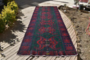 Caucasian Rug 62and039and039x165and039and039 Hand Woven 5x13 Antique Vintage Sumak Kilim 160x422cm