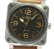 Bell&ross Golden Heritage Br03-92 Black Dial Automatic Menand039s Watch_609926