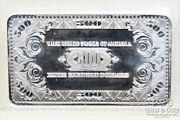 4 Ounces Silver 1999 500 Mckinley Proof Currency Bullion Bar 4 Ozt .999 20781