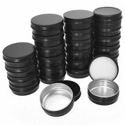 50xaluminum Tin Cans - 24 Pack 2oz / 60g Round Metal Container Screw Top Cans