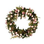 50xchristmas Flower Wreath Rose Garland With Elegant Best For Home Wall Door