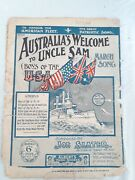 Australia's Welcome To Uncle Sam 1908 Usa Great White Fleet Visit By Joe Slater