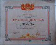North Vietnam Certificate 1958 Victory Order 3rd Class Vo Nguyen Giap Signature