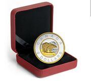 5 Oz. Fine Silver Gold-plated Coin Andndash Big Coin Series 2-dollars Coin Andndash 2015
