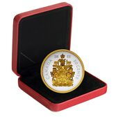 5 Oz. Fine Silver Gold-plated Coin - Big Coin Series 50-cent Coin - 2015