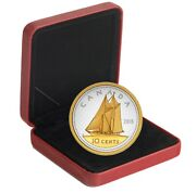 5 Oz. Fine Silver Gold-plated Coin Andndash Big Coin Series 10-cent Coin Andndash 2015