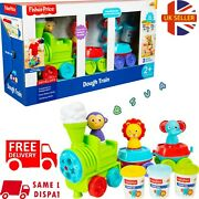 Fisher Price Preschool 2+ Dough Train Play Toy Animal Stampers 🇬🇧 N