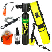 Submersible Scuba Package Spare Air 300 Nitrox And Rescue Gps W/ Accs.