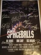 Super Rare Spaceballs Signed Movie Poster 10 Sigs W/ John Candy Rivers