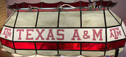 ✅ Texas Aandm Atm 40 Stained Glass Pool Table Lamp ‼️see Pictures